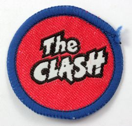 The Clash - 'Logo Red Background' Small Round Woven Patch